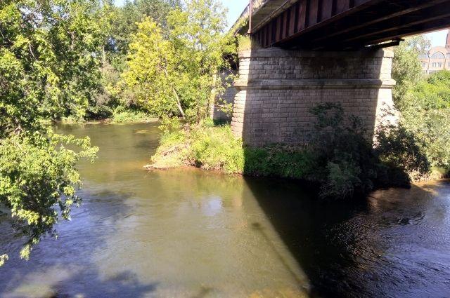Тело течение вынесло к автомобильному мосту.