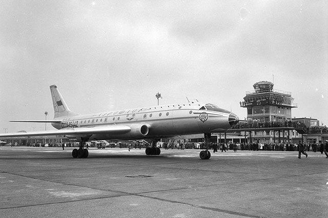 Ту-104, разбившийся под Хабаровском 15 августа 1958 года.