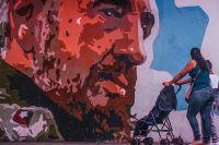 Граффити с изображением Фиделя Кастро.