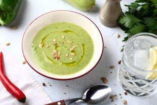 Холодный суп из кабачков