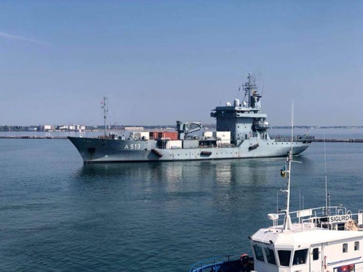 Среди зашедших в Одессу - фрегат «De Ruyter» Королевских ВМС Нидерландов, фрегат «Fatih» и минный тральщик «Аnamur» ВМС Турции.