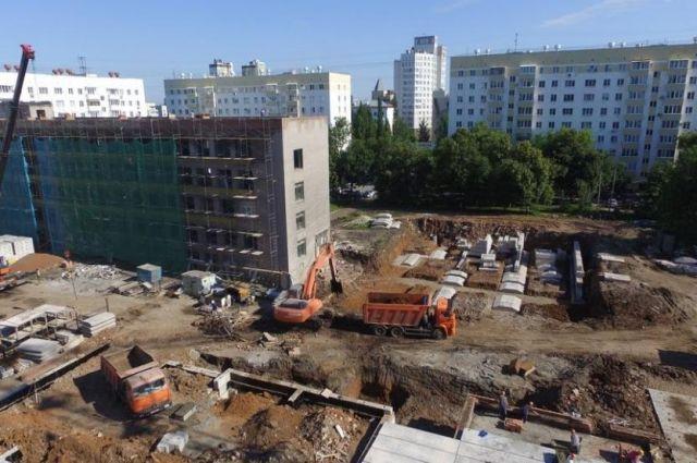 Реконструкция школы №1, июль 2017 года