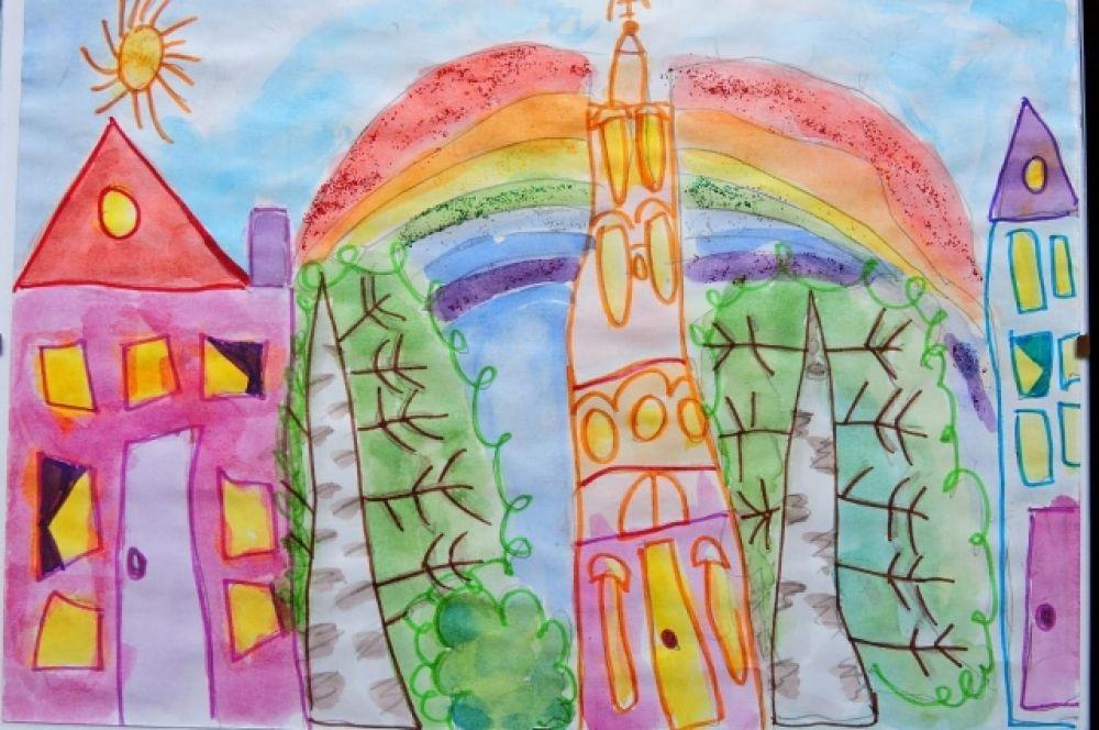 Жикина Эмилия, 5 лет. Мой город.