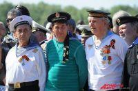 Ветераны моряки в День ВМФ в Омске.