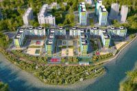 Новый микрорайон на берегу Ушаковки будет состоять из 22 блок-секций по 9 и 17 этажей.