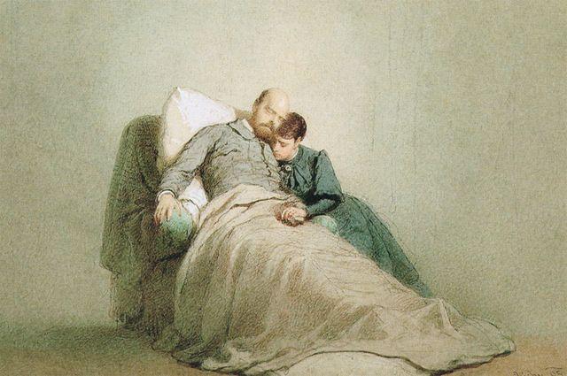Смерть Александра III в Ливадии. Худ. М. Зичи, 1895 год.