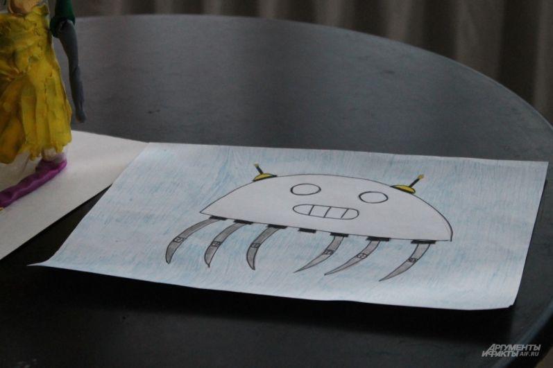 Дети рисуют роботов