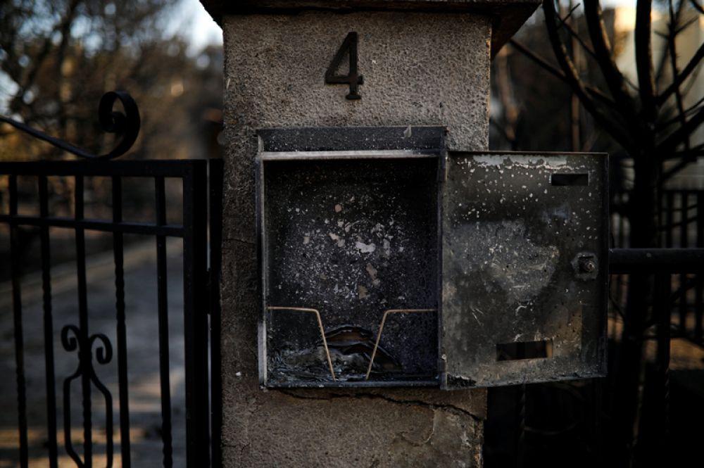Ящик для почтовой корреспонденции в одном из домов.