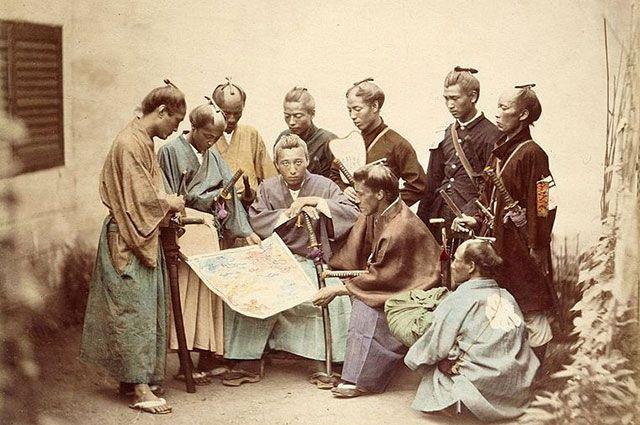Японские самураи, 1860-е годы.