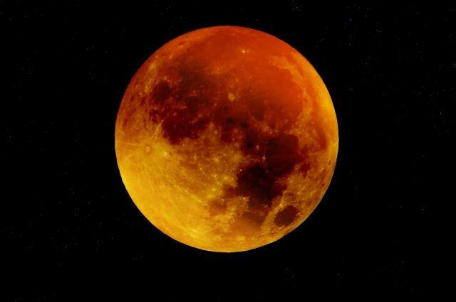 Луна окрасится в красный цвет.