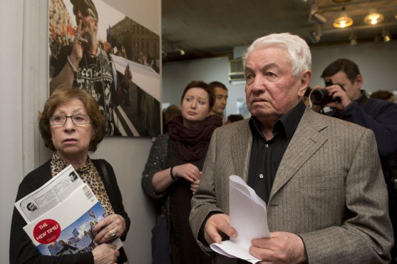 Актриса Лия Ахеджакова и писатель Владимир Войнович.