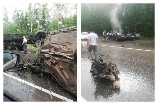 5 авто столкнулись натрассе вПрикамье, три человека погибли