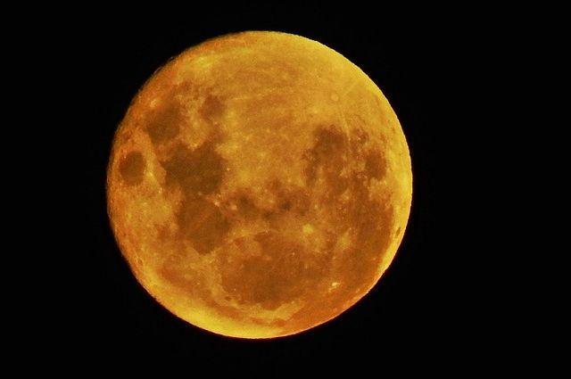 Тюменцы делятся в Интернете фотографиями «кровавой Луны»