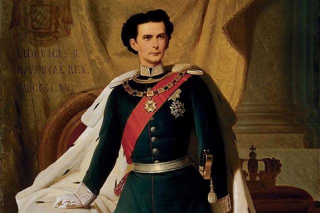Портрет Людвига II работы Фердинанда фон Пилоти. 1865 г.