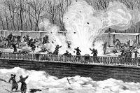 Покушение нажизнь Александра II1марта 1881 года— взрыв второго снаряда. ИзЖурнала «Всемирная иллюстрация» от14марта 1881г.