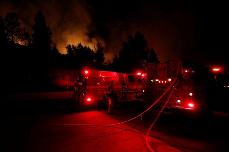 Работа пожарных в Реддинге.