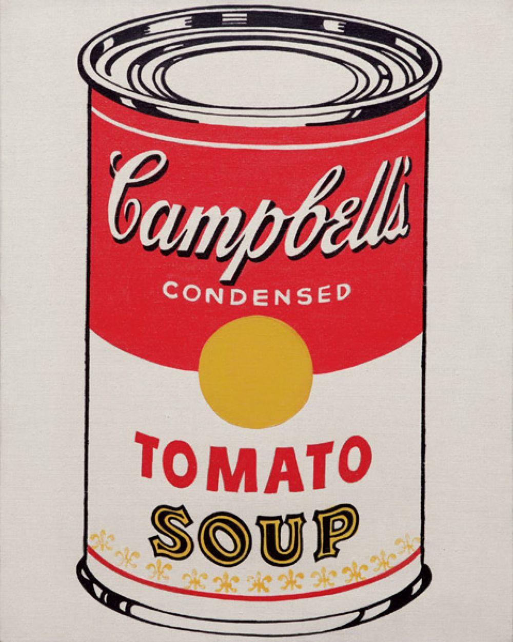 В начале 60-х Уорхол создал цикл работ с изображением консервных банок супа «Кэмпбелл». Первоначально плакаты художник рисовал сам, а позже начал печатать их методом шелкографии.