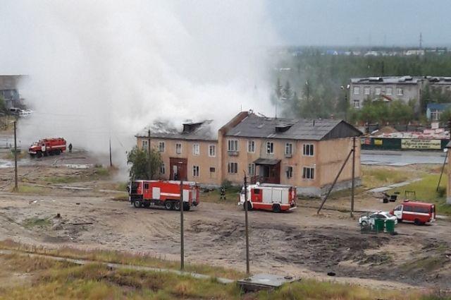 В Новом Уренгое предотвратили большой пожар