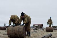 Экодесант собрал на острове Вилькицкого более 35 тонн металлолома
