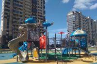 Детские площадки здесь просто космос!