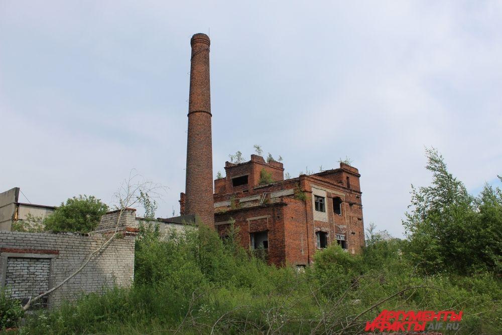 И только трубы бывшего предприятия продолжают величественно возвышаться над городом.