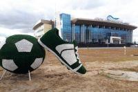 В Новом Уренгое появился футбольный топиарий