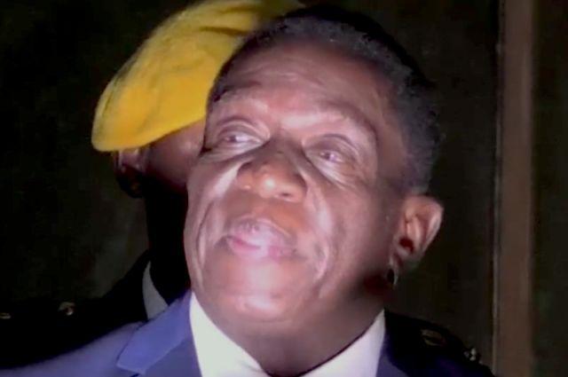 Лидер правящей партии Зимбабве Эммерсон Мнангагва