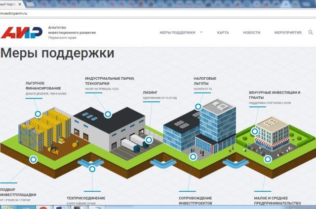 На портале имеется агрегатор мер поддержки инвестиционных проектов, которые сегодня действуют в Прикамье.