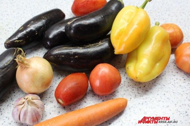 В блюдо входят сезонные овощи.