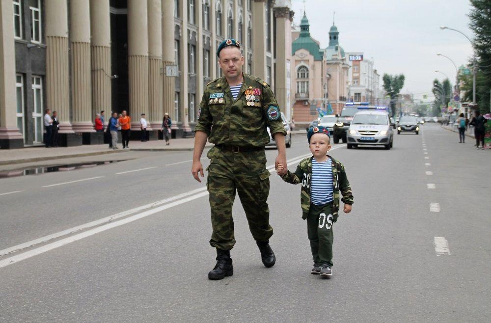 День ВДВ в Иркутске.