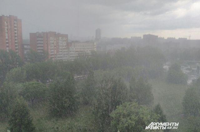 3 августа в Пермском крае ожидается сильный дождь, местами грозы.