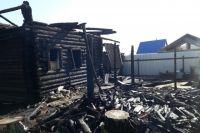 Пожар в тюменском селе Онохино оставил без дома многодетную семью