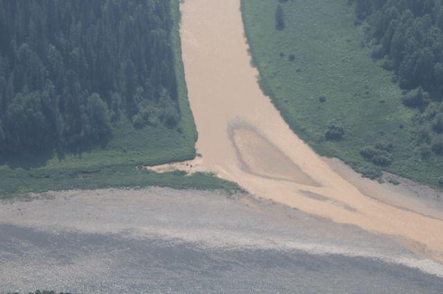 Жители Мариинска пожаловались областным властям на загрязнения Кии и её притока реки Кундат.