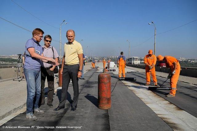 Мызинский мост вНижнем Новгороде отремонтирован на50 процентов
