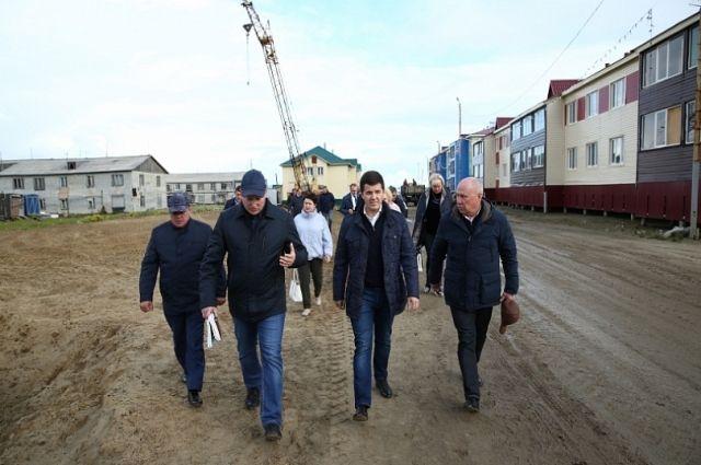 Долгострои села Антипаюта посетил Дмитрий Артюхов