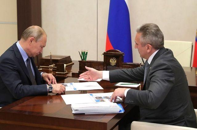 Владимир Путин провел рабочую встречу с Александром Моором