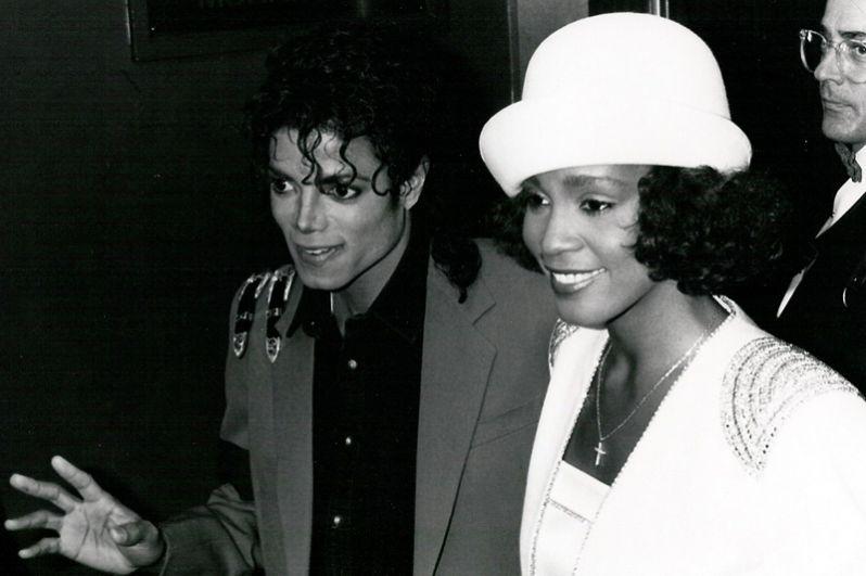 С Майклом Джексоном, 1998 год.