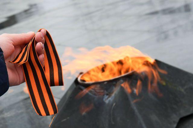 Вовремя старта ежегодной акции «Георгиевская ленточка», посвященной 73-й годовщине Победы вВеликой Отечественной войне.