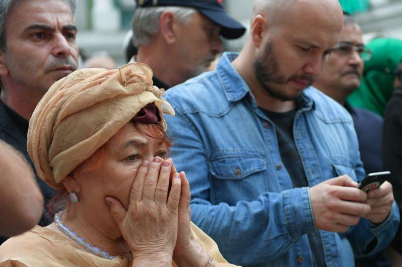 Прощание с убитым в Центральноафриканской республике (ЦАР) журналистом Орханом Джемалем у Московской соборной мечети.