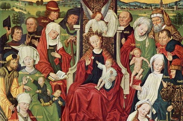 «Святая родня» — изображение семьи святой Анны с её многочисленными внуками.