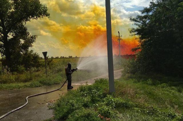 Под Днепром произошла утечка четырех тонн азотной кислоты