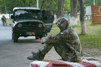 Миротворческие силы России в Цхинвали.