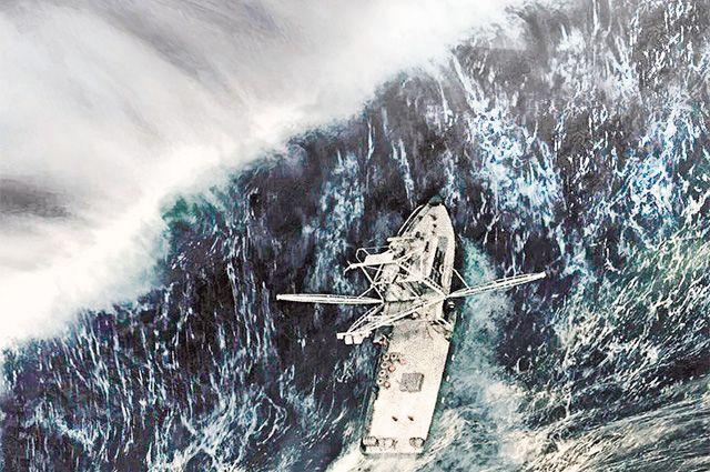 Волны высотой 30 метров могут возникать буквально из ниоткуда.