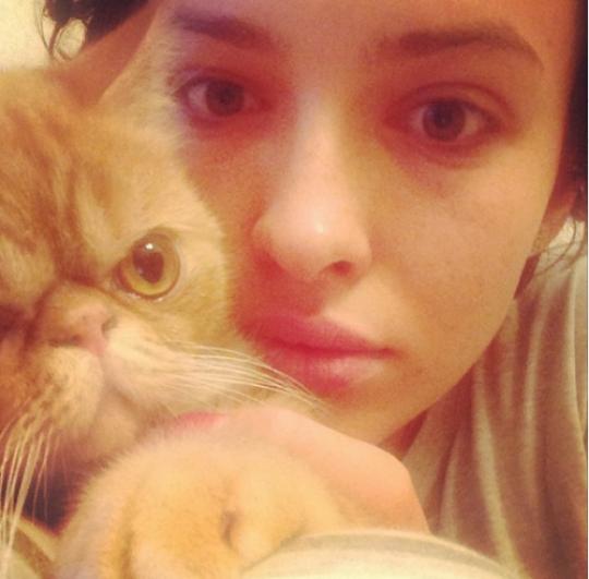 Кот породы экзотическая короткошерстная по имени Йося живет у Даши Астафьевой. Котик стал настоящей звездой Instagram, вместе с откровенными фото самой артистки.