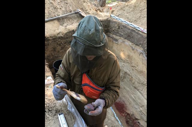 Планы строителей изменила археологическая находка в горсаду Салехарда