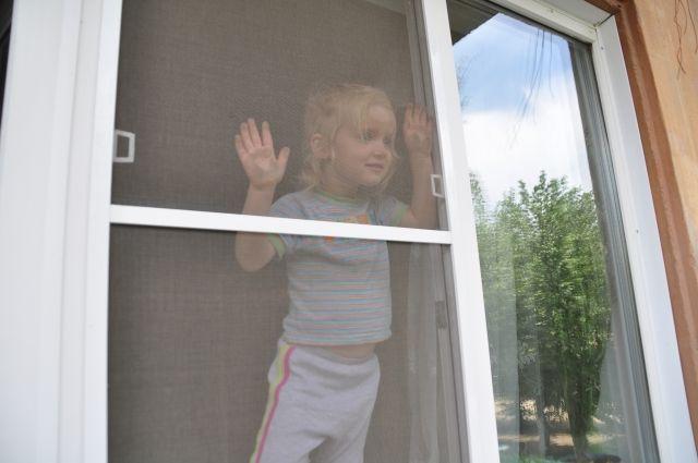 Москитные сетки на окнах не выдерживают веса ребёнка.