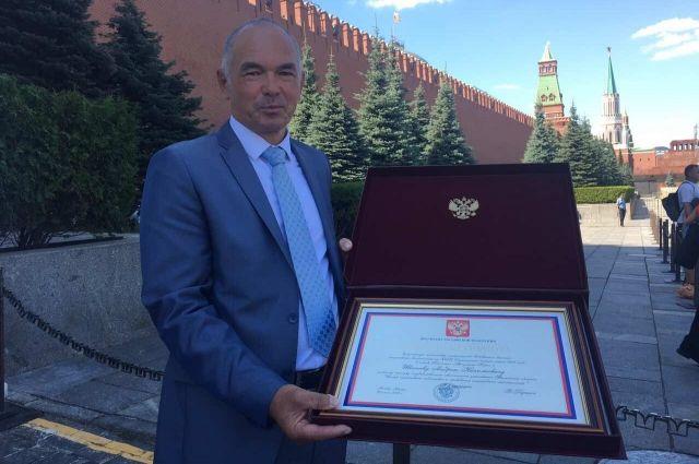 В Москве тюменский тренер получил Почетную грамоту президента