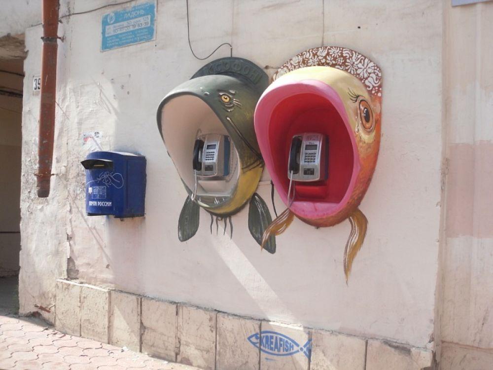 Рыбофоны долгое время украшали улицы Перми.