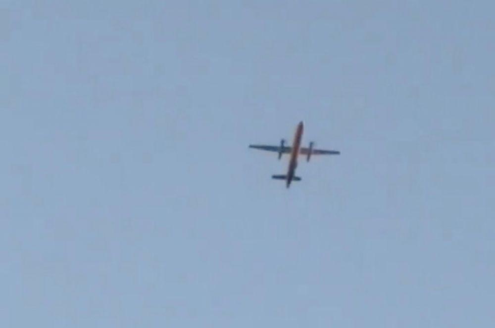 Угнанный самолет Q400 авиакомпании Horizon Air.