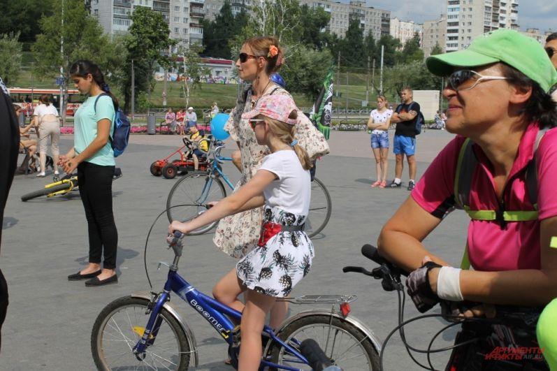В велопараде принимали участие дети